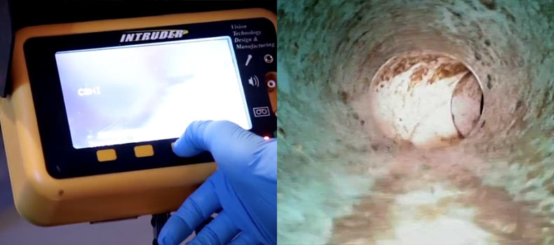 A sewer scope video inspection from Precision Home Inspections Plus